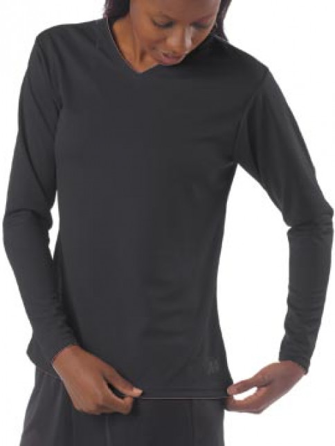 A4 Women's Textured Tech Long Sleeve Tee