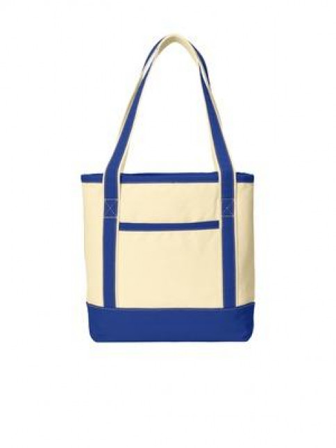 Port Authority® Medium Cotton Canvas Boat Tote.