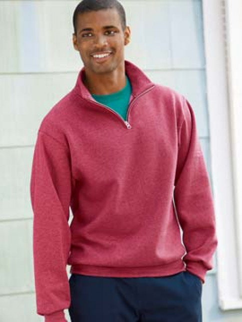 Jerzees NuBlend® Quarter Zip Cadet Collar Sweatshirt