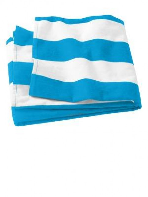 Port & Company® Cabana Stripe Beach Towel